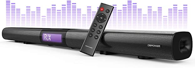 DBPOWER Soundbar for TV, 37 inch 2.1 Channel Wired and Wireless Bluetooth Optical Soundbar, Home Theater TV Speaker for TV/PC/Smartphone (Stereo Surround Sound, Remote Controlled & Wall-mountable)