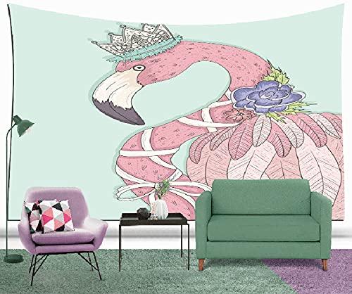 3D HD Inkjet Flamingo Series Tapiz Manta Sala de estar Dormitorio Decoración Tela de fondo Tela colgante Colgante de pared A1 180X200CM