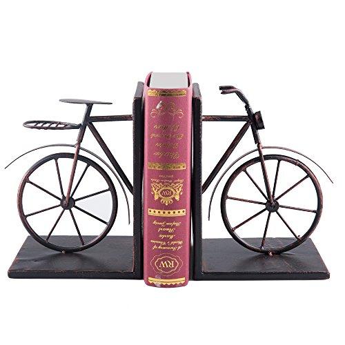 Fasmov Fahrrad Buchstützen Metall Buchstütze Vintage Stil Dekorativ, Bronzefarben