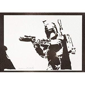 Boba Fett Poster STAR WARS Plakat Handmade Graffiti Street Art – Artwork