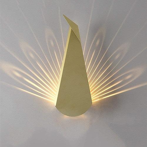 ZYY Clignotants à LED - Mode nord-moderne post-moderne, lampes de mur créatives Applique scandinave Personnalité Classique Unique Design Phare en fer pour salle d'étude Chambre chevet Restaurant Coulo
