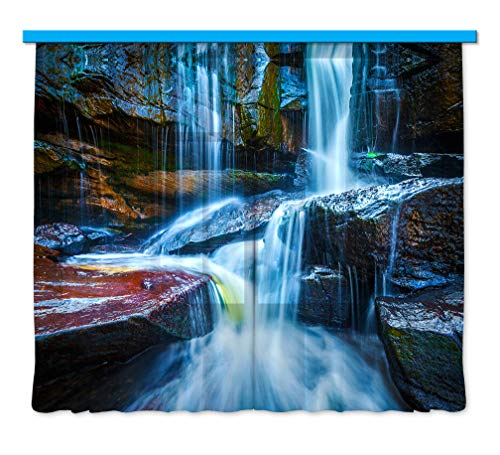 Gardine/Vorhang FCS 7400, Wasserfall, 280 x 245 cm, 2 teil
