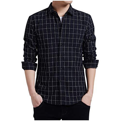 Herren Sommerhemden Kurzarm Hemd Braunes Coole Signum Jupiter Kurz Unifarben Neue beiläufige Art und Weise der Männer streifte lose Revers-langes Hülsen-Hemd übersteigt Bluse Trend neu