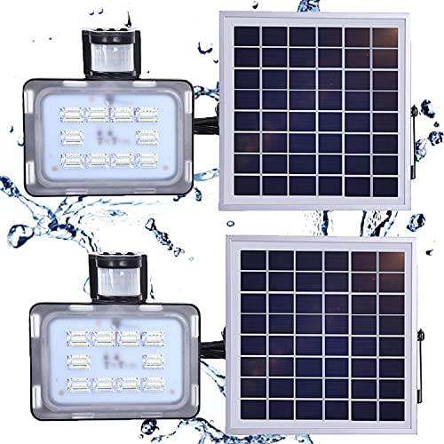 WZFANJIJ Focos solares para Exteriores, LED a Prueba de Agua IP65 Focos solares para paisajes, Luces de Pared alimentadas por energía Solar, Encendido/Apagado automático, Paquete de 2