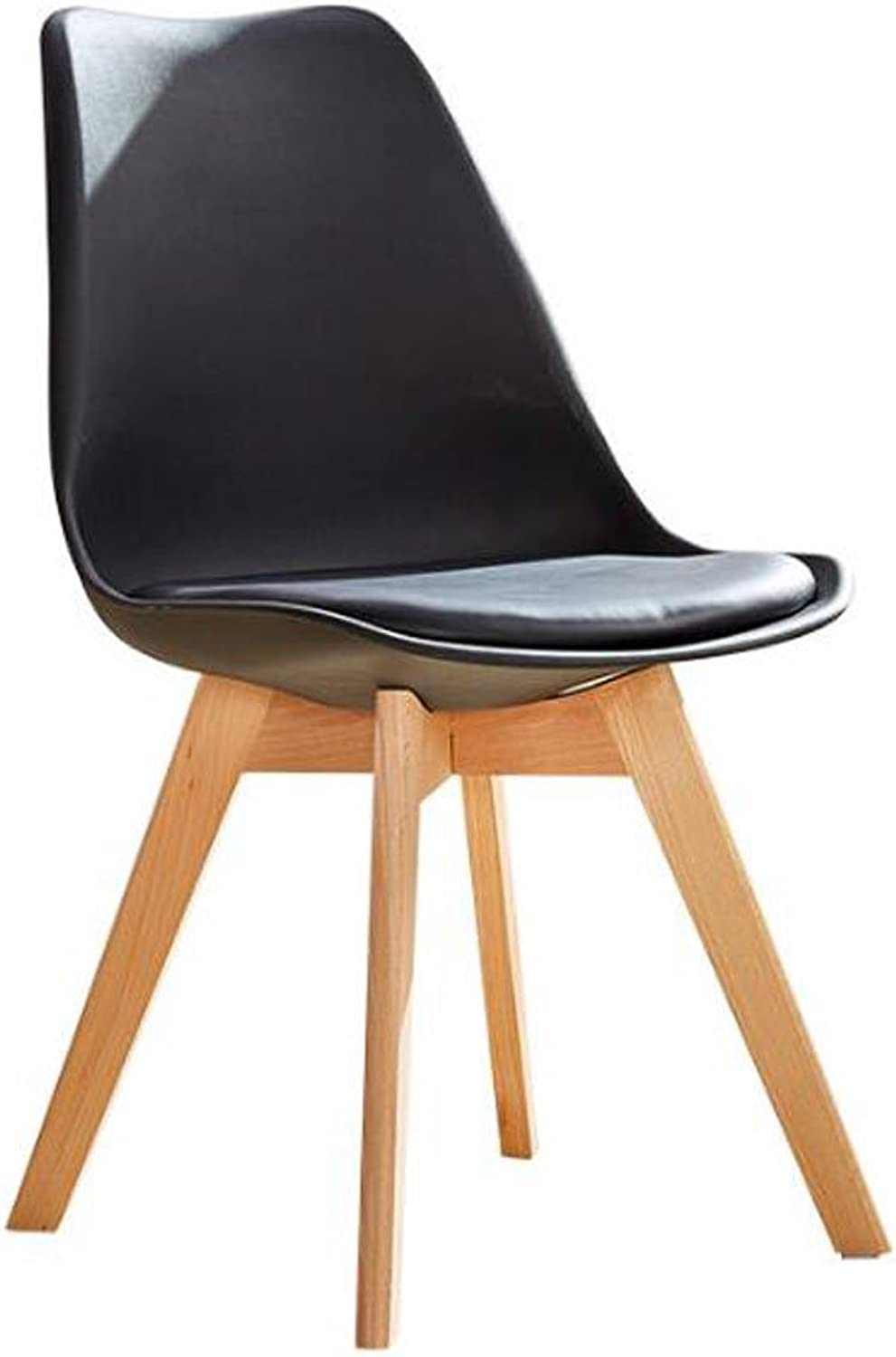 AJZGFDining Chair, Kitchen Chair Solid Wood Dining Chair, Modern Minimalist Chair, Computer Chair, Casual Fashion Office Chair, Home Stool. (color   D)
