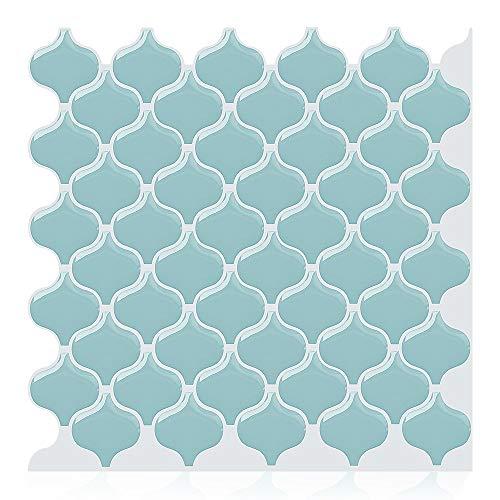 HPTQJ Peel and Stick Azulejos Backsplash para la Cocina/baño Self 3D Azulejos Adhesivos de la Pared, Pegatinas a Prueba de Aceite a Prueba de Agua Arabesco Backsplash 10 x 10 Pulgadas (6pcs)