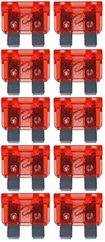 baytronic Standard Flachstecksicherung Kfz-Sicherung (10 Stück 10 A rot)