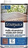 STARWAX Huile Application Facile Teinte Teck-750 ML-Effet Rénovateur: Ravive l'Éclat des Bois Grisés, Teck, 750ML
