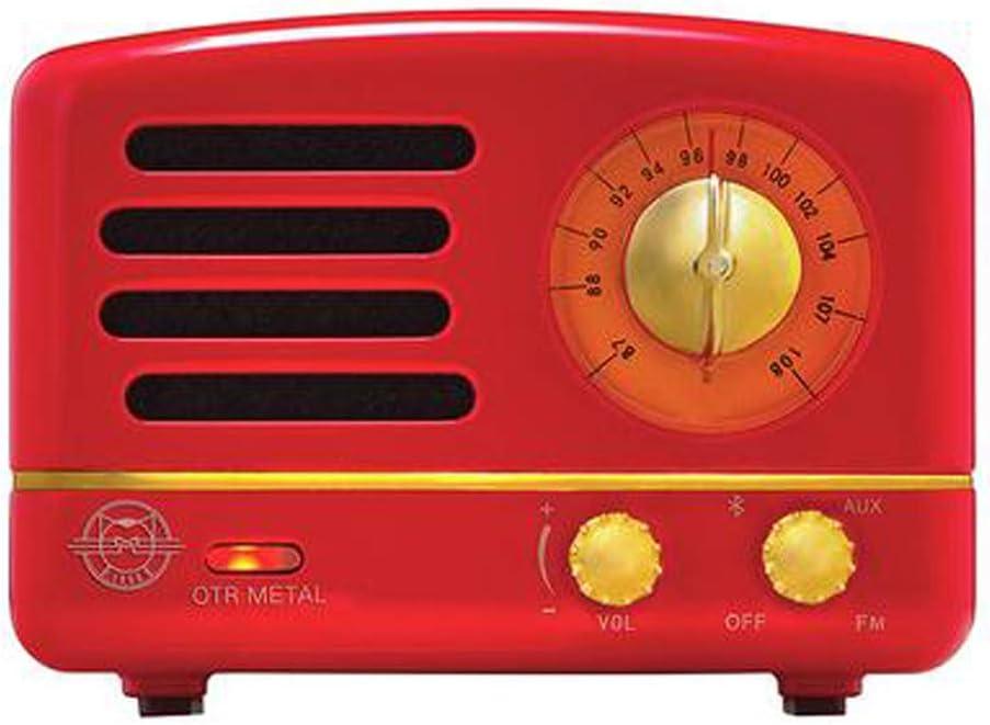 Muzen OTR New Orleans Mall Vintage Metal Portable Bluetooth Oklahoma City Mall Radio Crim Speaker FM