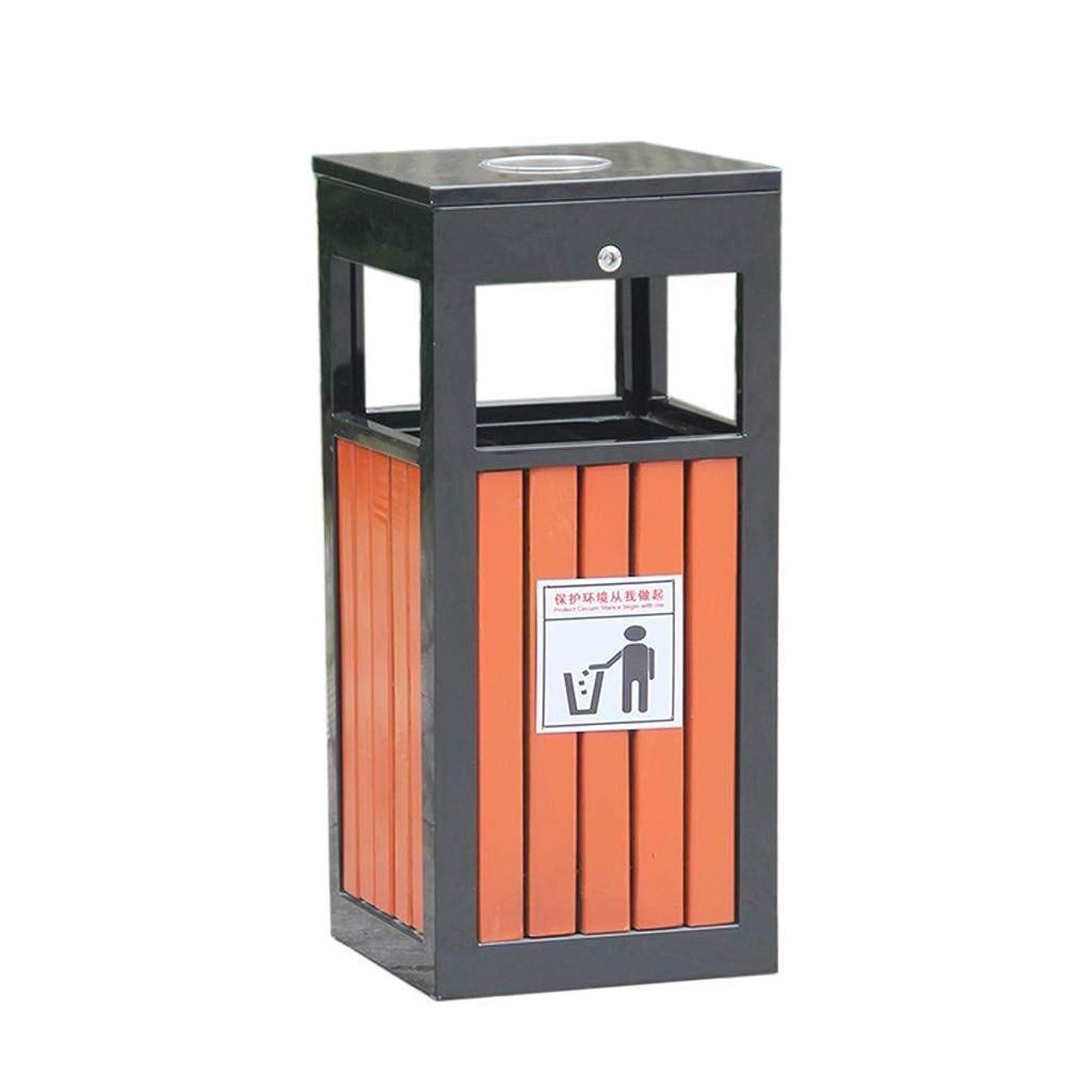 電話する船酔いカエルLTJIUZ ゴミ箱環境保護金属製のゴミ箱産業収納ストリートスクエアコミュニティ屋外スチール木材ゴミ箱フルーツ廃棄物&リサイクル灰皿