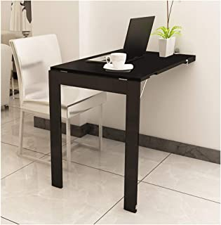 A-Fort Table Wall-Mounted Folding Table, Home Telescopic Folding Multi-Function Wall Table Dining Table (Color : Black, Size : 9060 cm)