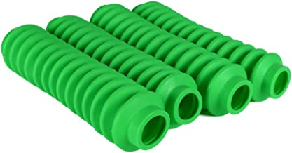 4 Pack Fluorescent or Lime Green Rukse RK9100 Poly-vinyl Shock Boots for Jeep Grand Cherokee WJ