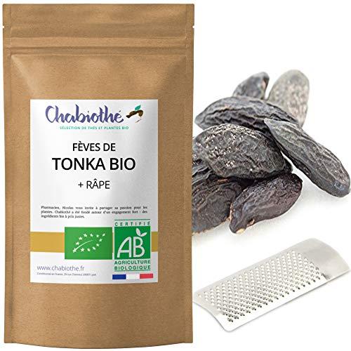 5 Fèves Tonka Bio + une râpe - conditionné en France - sachet biodégradable