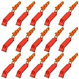 LUTER 15 Pcs Sifflets de sécurité d'urgence en Plein air avec Longes, Sifflets de...