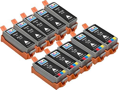 Skia Pixma Pixma iP100, iP110 Compatible Ink Cartridges. 5 Blacks & 5 Colors (10 Pack)