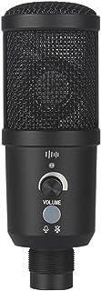 Micrófono De Condensador USB para Juegos, 192 KHz / 24 bit, Kit De Micrófono para PC, con Práctico Control De Volumen De T...
