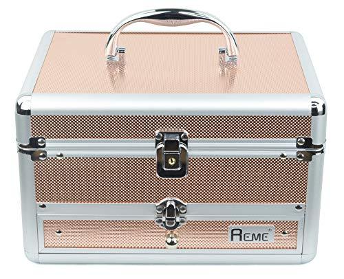 Reme Makeup Train Case Cosmetic Organizer Case...