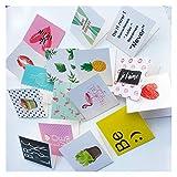 lliang Tarjeta de Felicitación 10 unids/Set Tarjetas de felicitación de cumpleaños de Dibujos Animados Vacío Año Nuevo Saludo Postal Mini Tarjetas Creativo Tarjeta de Navidad (Farbe : Style Random)