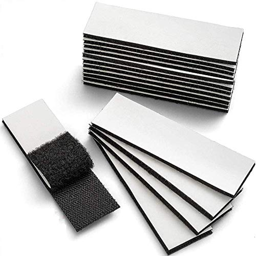 Heavy Duty Hook and Loop Tape with Adhesive Waterproof Sticky Strips Fastening Interlocking Tape(310cm 12Pcs Black)