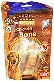 Nobby - 68021 - Golosinas para perros - Huesos con sabor a barbacoa - Pollo, paquete de 2