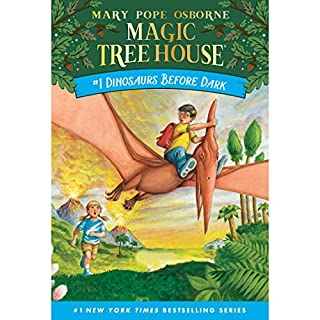 Dinosaurs Before Dark     Magic Tree House, Book 1              Written by:                                                                                                                                 Mary Pope Osborne                               Narrated by:                                                                                                                                 Mary Pope Osborne                      Length: 41 mins     1 rating     Overall 5.0