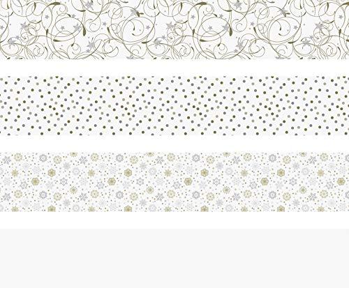 Heyda 204875538 Faltstreifen-Set für Fröbelsterne 1 x 30 cm & 1, 5 x 45 cm, 4 Motive Sortiert in zwei verschiedenen Größen