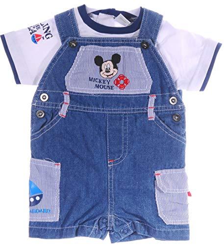 Shirt und Kurze Jeanz Latzhose Shorts Baby T-Shirt Mickey Mouse Diseny Anzug (68)