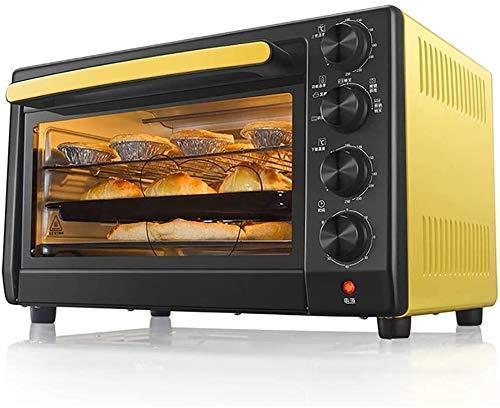 NLRHH Haushalt Multi-Funktions-Ofen, 35L Mini-Backofen mit Krümelschublade, 360 Grad;Rotating Barbecue/Explosionsgeschützte Beleuchtung/Ex-Pro. Peng
