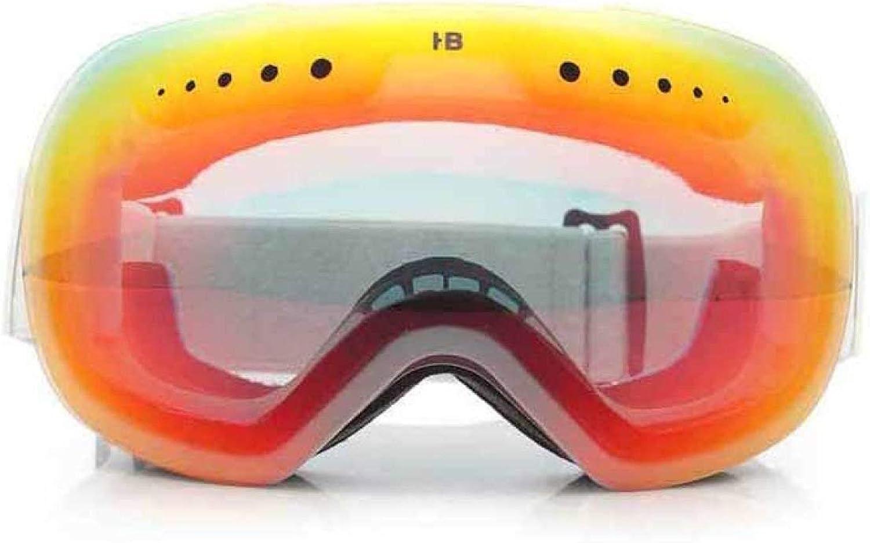 GTRHGTYH Fashion riding goggles Skiing Glasses Anti Fog Adult Male Female Skiing Mirror