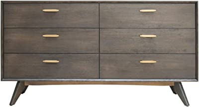 Safavieh Couture Home Lorna Navy 6 Drawer Dresser Furniture Decor