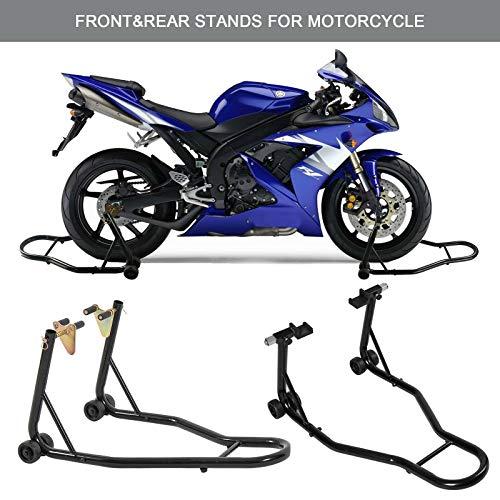 Motorcycle Stand Front Rear Swingarm Lift Head Front Forklift Max 5600.3211 Sport Bike Motorcycle Front & Rear Spool-Style Lift Stand – Fits Yamaha, Honda, Kawasaki, Suzuki, Ducati, BMW