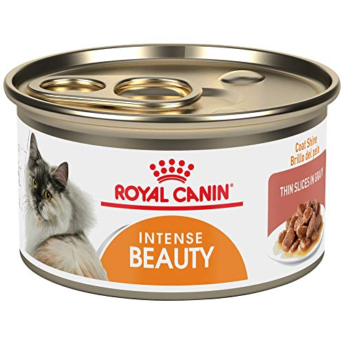 Royal Canin Feline Care Nutrition Intense Beauty Thin Slices In Gravy Canned Cat Food, 3 oz Can (Pack of 24)