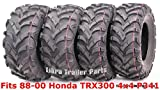 Full Set WANDA ATV tires 23x8-11 & 24x9-11 for 88-00 Honda TRX300 4x4 P341