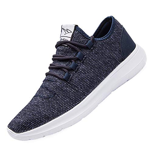 KEEZMZ Men's Running Shoes Fashion Breathable Sneakers Mesh Soft Sole Casual Athletic Lightweight Blue-43