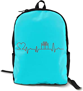Not applicable Love In Heartbeat Adultos Hombres y Mujeres Unisex Sport Fashion Style Mochila