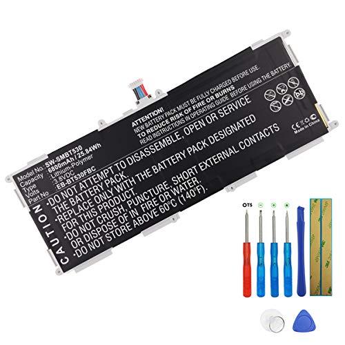 Powerk - Batería para Samsung Galaxy Tab 4 10.1 SM-T530 SM-T531 SM-T533 SM-T535 SM-T537 SM-T537A eb-bt530fbu SM-T537r4