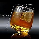 2er Set Whiskygläser | Wirbelnde Whiskey Tumbler | Perfektes Bar Geschenkset | Spirituosen, Whisky, Bourbon oder Scotch | M&W - 4