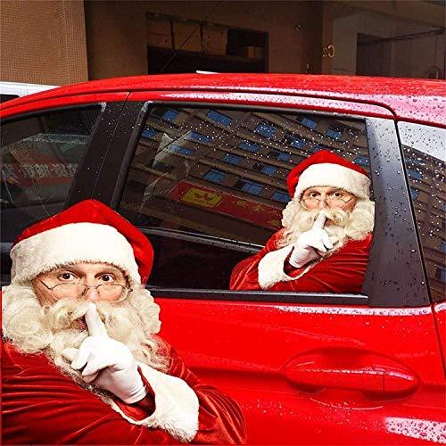 Andyshi 2 PCS 3D Santa Claus Car Rear Window Sticker Car Sticker Window Sticker Funny Car Stickers Window Decals for Vehicles