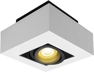 Budbuddy 5W Regulable Focos para el techo LED lamparas de techo led Luces de Techo Plafón Focos de techo Lamparas con focos casquillo GU10 230V [incluye 5W bombillas Regulable LED]