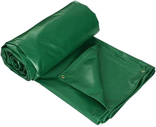 ANHPI-tarpaulin Baches De Prougeection étanche à La Poussière Extérieure Couverture De Marchandises De Camion D'ombre Tissu De Pluie Anti-oxydation,épaisseur 0.4mm,400 G M2,10 Taille,vert-4x4M