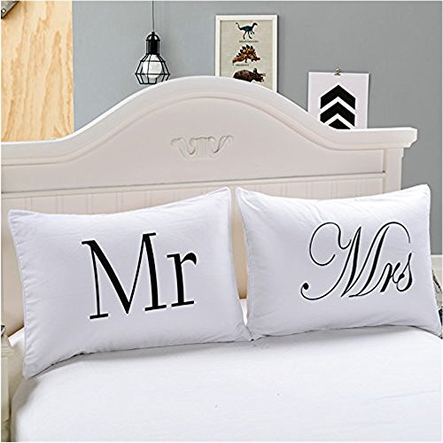 Couple Pillowcase Set,I Love Weird and I am Weird Pillow Cover for...