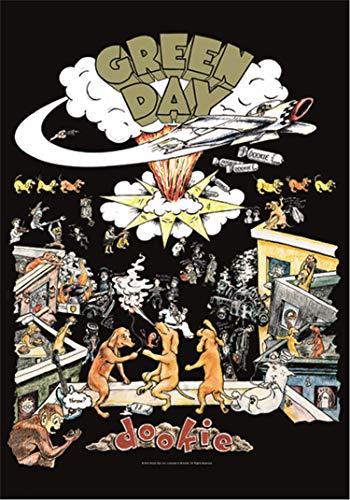 Heart Rock Bandera Original, Green Day Dookie, Tela, Multicolor, 110