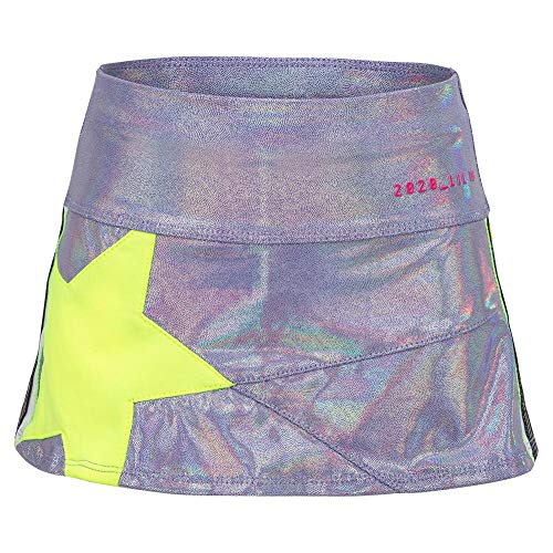 Lucky In Love Girls` Mini Starlight Tennis Skort Lilac and Neon Yellow (SMALL Lilac/N Ylw)