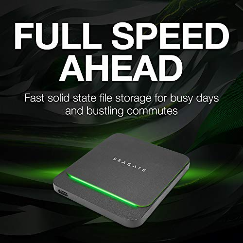 Seagate Barracuda Fast SSD 1TB External Solid State Drive Portable – USB-C USB 3.0 for PC, Mac, Xbox