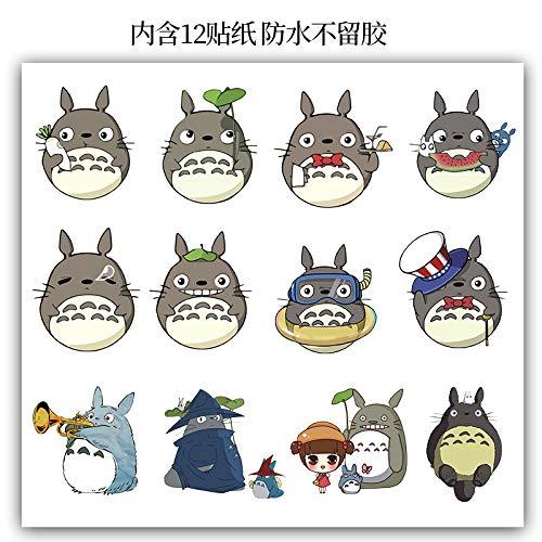 ZXXC Dibujos Animados Anime Lindo mi Vecino Totoro Maleta Pegatina Hayao Miyazaki Trolley Maleta Pegatina para Ordenador portátil