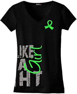 Fight Like a Girl Side Wrap Ladies V-Neck T-Shirt (Assorted Colors)