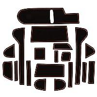 N-BOX NBOXカスタム JF3 JF4 ドアポケットマット 19P (ブラウン) ラバーマット ゴムマット 内装 滑り止めマット カップホルダー ドリンクホルダー コンソールトレイ ゴムマット