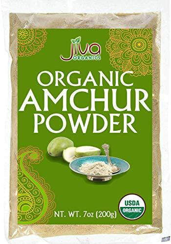 Organic Amchur (Dry Mango) Powder 7oz - Non-gmo, All Natural Amchoor Powder - By Jiva Organics