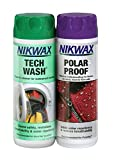Nikwax Tech Wash/Polar Prueba de Lavar en waterproofer 300 ml Twin Pack
