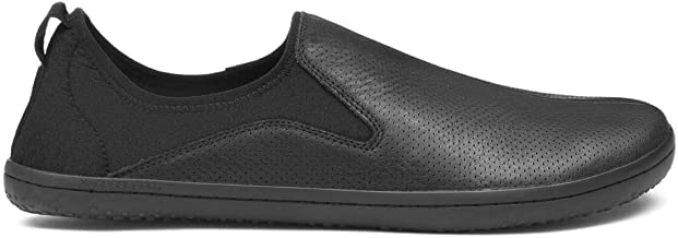 vivobarefoot Slyde, Mens Casual Leather Slip On, with Barefoot Sole